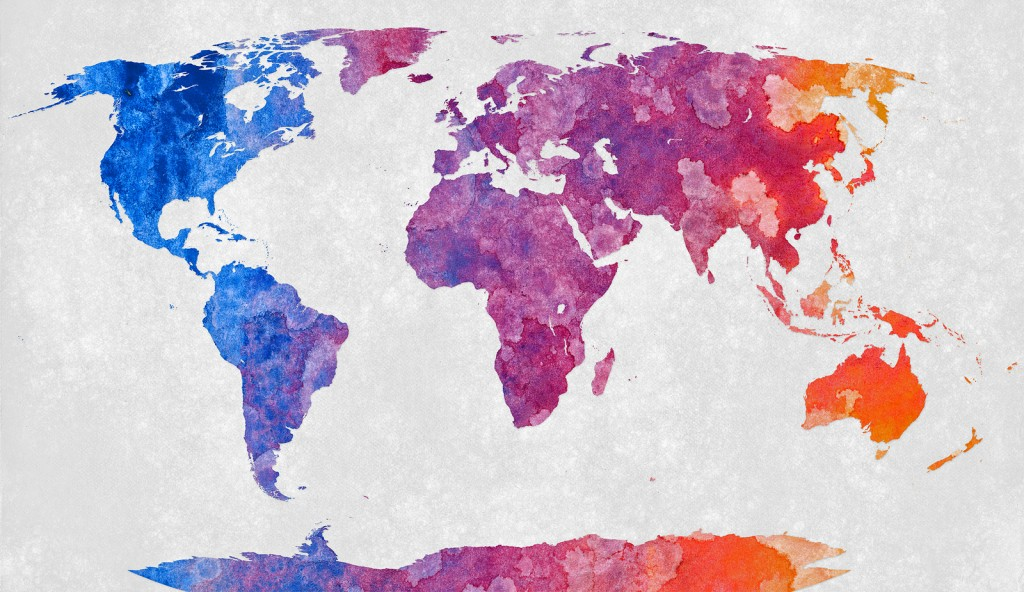 """World Map - Abstract Acrylic"""" by Nicolas Raymond is licensed under CC BY 2.0"""