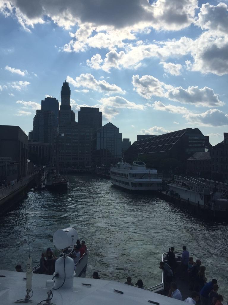 ▲船から見たボストンの街並み