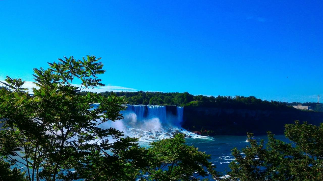 ▲休日に訪れたナイアガラの滝