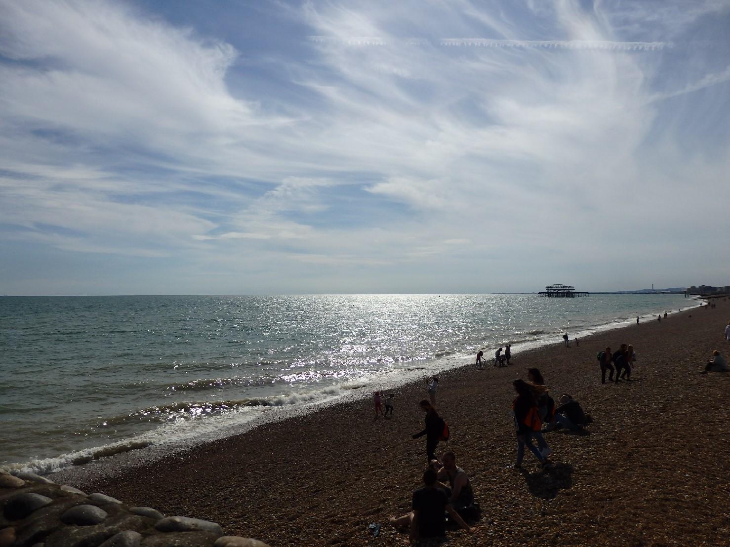 ブライトンのビーチ。